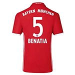 Bayern Munich 16/17 BENATIA Authentic Home Soccer Jersey