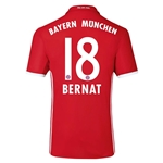Bayern Munich 16/17 BERNAT Authentic Home Soccer Jersey