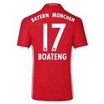 Bayern Munich 16/17 BOATENG Authentic Home Soccer Jersey