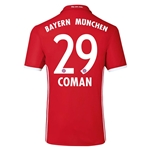 Bayern Munich 16/17 COMAN Authentic Home Soccer Jersey