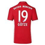 Bayern Munich 16/17 GOTZE Authentic Home Soccer Jersey
