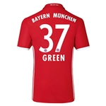 Bayern Munich 16/17 GREEN Authentic Home Soccer Jersey