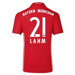 Bayern Munich 16/17 LAHM Authentic Home Soccer Jersey