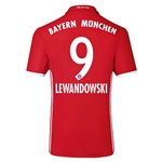 Bayern Munich 16/17 LEWANDOWSKI Authentic Home Soccer Jersey