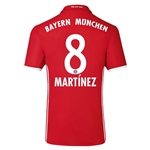 Bayern Munich 16/17 MARTINEZ Authentic Home Soccer Jersey