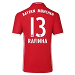 Bayern Munich 16/17 RAFINHA Authentic Home Soccer Jersey