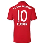 Bayern Munich 16/17 ROBBEN Authentic Home Soccer Jersey