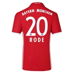 Bayern Munich 16/17 RODE Authentic Home Soccer Jersey