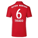Bayern Munich 16/17 THIAGO Authentic Home Soccer Jersey