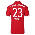 Bayern Munich 16/17 VIDAL Authentic Home Soccer Jersey