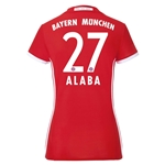 Bayern Munich 16/17 ALABA Women's Home Soccer Jersey