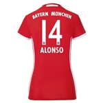 Bayern Munich 16/17 ALONSO Women's Home Soccer Jersey