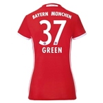 Bayern Munich 16/17 GREEN Women's Home Soccer Jersey