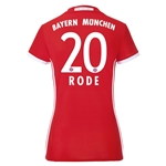 Bayern Munich 16/17 RODE Women's Home Soccer Jersey