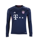 Bayern Munich 16/17 Goalkeeper Youth LS Soccer Jersey