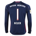 Bayern Munich 16/17 NEUER Goalkeeper Youth LS Soccer Jersey