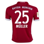 Bayern Munich 16/17 MULLER Youth Home Soccer Jersey