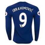 Manchester United 16/17 IBRAHIMOVIC LS Away Soccer Jersey
