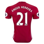 Manchester United 16/17 ANDER HERRERA Authentic Home Soccer Jersey