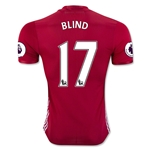 Manchester United 16/17 BLIND Authentic Home Soccer Jersey