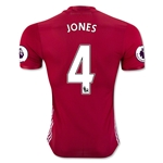 Manchester United 16/17 JONES Authentic Home Soccer Jersey