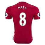 Manchester United 16/17 MATA Authentic Home Soccer Jersey