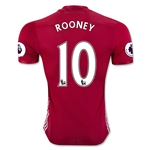 Manchester United 16/17 ROONEY Authentic Home Soccer Jersey
