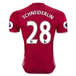 Manchester United 16/17 SCHNEIDERLIN Authentic Home Soccer Jersey
