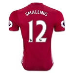 Manchester United 16/17 SMALLING Authentic Home Soccer Jersey