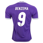 Real Madrid 16/17 BENZEMA Away Soccer Jersey