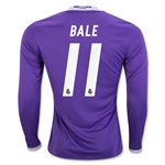 Real Madrid 16/17 BALE LS Away Soccer Jersey