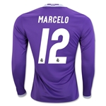 Real Madrid 16/17 MARCELO LS Away Soccer Jersey