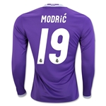 Real Madrid 16/17 MODRIC LS Away Soccer Jersey