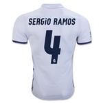 Real Madrid 16/17 SERGIO RAMOS Authentic Home Soccer Jersey