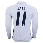 Real Madrid 16/17 BALE LS Home Soccer Jersey