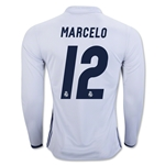 Real Madrid 16/17 MARCELO LS Home Soccer Jersey