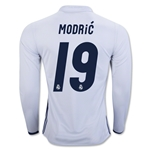 Real Madrid 16/17 MODRIC LS Home Soccer Jersey