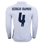 Real Madrid 16/17 SERGIO RAMOS LS Home Soccer Jersey