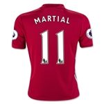 Manchester United 16/17 MARTIAL Youth Home Soccer Jersey