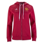Manchester United Women's 3-Stripe Zip Hoody
