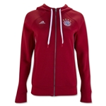 Bayern Munich Women's 3-Stripe Zip Hoody