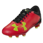Under Armour Spotlight DL FG Junior (Rocket Red/High-Vis Yellow/Black)