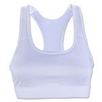 Elite Compression Sports Bra (White)