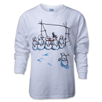 Snowmen Wall LS T-Shirt (White)