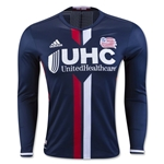 New England Revolution 2016 LS Authentic Home Soccer Jersey