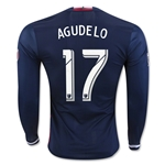 New England Revolution 2016 AGUDELO LS Authentic Home Soccer Jersey
