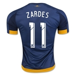 LA Galaxy 2016 ZARDES Authentic Away Soccer Jersey
