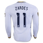 LA Galaxy 2016 ZARDES 2016 LS Authentic Home Soccer Jersey