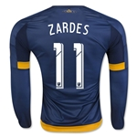 LA Galaxy 2016 ZARDES LS Authentic Away Soccer Jersey