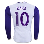 Orlando City SC 2016 KAKA LS Authentic Away Soccer Jersey